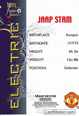 Jaap Stam (Electric) - Back