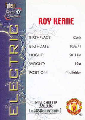 Roy Keane (Electric) - Back