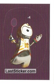 Mascot Sticker (Badminton)