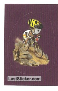 Mascot Sticker (Cycling - Mountain Bike)