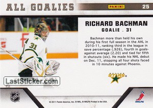 Richard Bachman (Dallas Stars) - Back