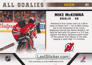 Mike McKenna (New Jersey Devils) - Back