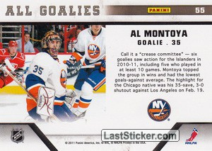 Al Montoya (New York Islanders) - Back