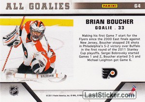 Brian Boucher (Philadelphia Flyers) - Back