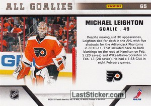 Michael Leighton (Philadelphia Flyers) - Back
