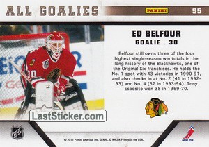 Ed Belfour (Chicago Blackhawks) - Back