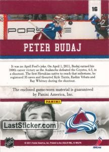 Peter Budaj (Colorado Avalanche) - Back