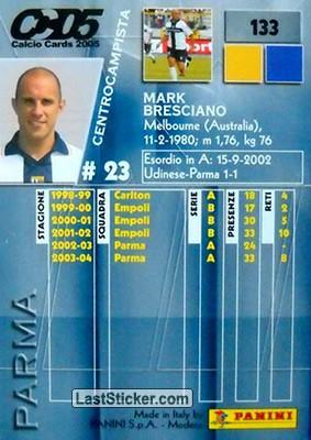 Mark Bresciano (Parma) - Back