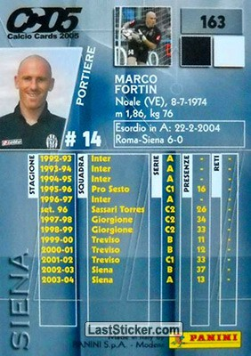 Marco Fortin (Siena) - Back