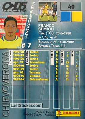 Franco Semioli (Chievo Verona) - Back
