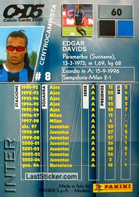 Edgar Davids (Inter) - Back