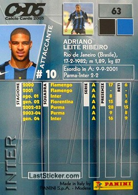 Adriano (Inter) - Back