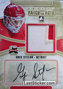 Greg Stefan (Game-Used Patch&Auto)