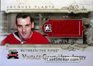 Jacques Plante (Vintage Game-Used Patch)