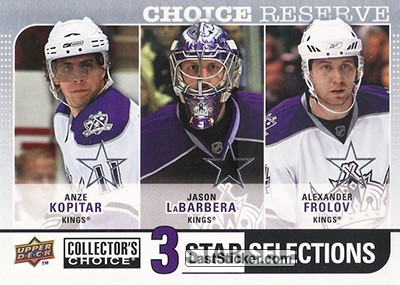 Alexander Frolov / Anze Kopitar / Jason LaBarbera (Los Angeles Kings)