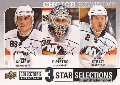 Rick DiPietro / Mike Comrie / Mark Streit (New York Islanders)