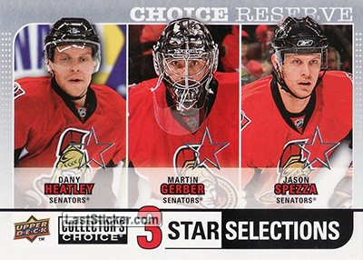 Dany Heatly / Jason Spezza / Martin Gerber (Ottawa Senators)