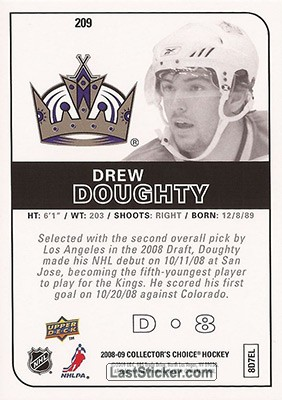 Drew Doughty (Los Angeles Kings) - Back