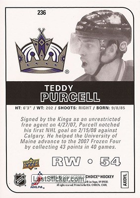 Teddy Purcell (Los Angeles Kings) - Back