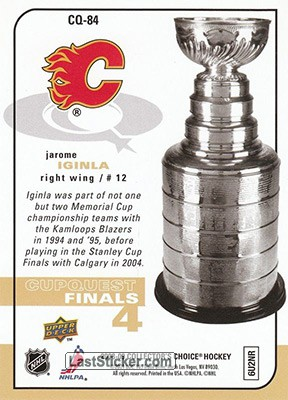 Jarome Iginla (Calgary Flames) - Back