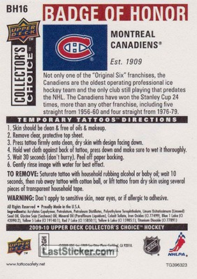 Montreal Canadiens (Montreal Canadiens) - Back