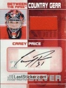 Carey Price (Country Gear Jersey&Auto)