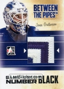 Jonas Gustavsson (Game-Used Number)
