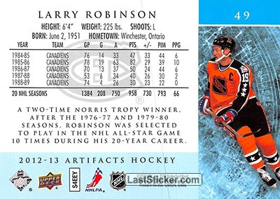 Larry Robinson (All-Star Team) - Back
