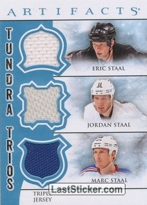 Eric Staal / Jordan Staal / Marc Staal (Carolina Hurricanes / Pittsburgh Penguins / New York Rangers)