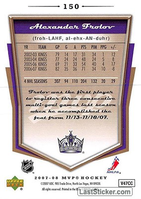 Alexander Frolov (Los Angeles Kings) - Back