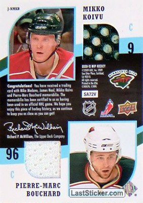 Mike Modano / James Neal / Mikko Koivu / Pierre-Marc Bouchard (Dallas Stars / Minnesota Wild) - Back