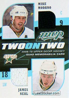 Mike Modano / James Neal / Mikko Koivu / Pierre-Marc Bouchard (Dallas Stars / Minnesota Wild)