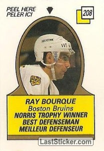 Ray Bourque - Norris Trophy Winner (1987-88 Leaders)