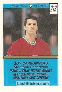 Guy Carbonneau - Frank J. Selke Trophy Winner (1988-89 Leaders)