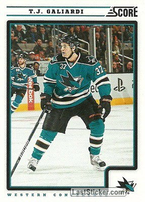 T.J. Galiardi (San Jose Sharks)