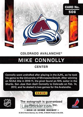Mike Connolly (Colorado Avalanche) - Back