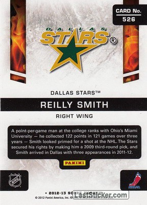 Reilly Smith (Dallas Stars) - Back