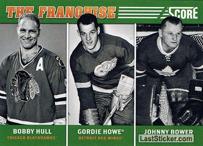 Bobby Hull / Gordie Howe / Johnny Bower (Chicago Blackhawks / Detroit Red Wings / Toronto Maple Leafs)
