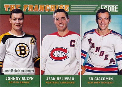 Johnny Bucyk / Jean Beliveau / Ed Giacomin (Boston Bruins / Montreal Canadiens / New York Rangers)