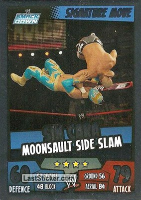 Sin Cara - Moonsault side slam (Signature Move)