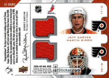 Simon Gagne / Mike Richards / Jeff Carter / Martin Biron (Philadelphia Flyers) - Back