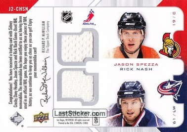 Sidney Crosby / Dany Heatley / Jason Spezza / Rick Nash (Pittsburgh Penguins / Ottawa Senators / Columbus Blue Jackets) - Back