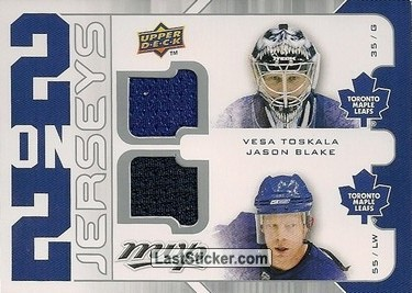 Vesa Toskala / Jason Blake / Tim Thomas / Milan Lucic (Toronto Maple Leafs / Boston Bruins)