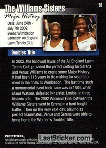 The Williams Sisters - Back
