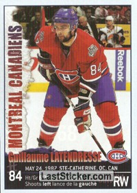 Guillaume Latendresse (Montreal Canadiens)