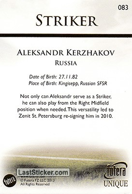 Aleksandr Kerzhakov (The Strikers) - Back