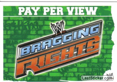 WWE Bragging Rights (Pay Per View Card)