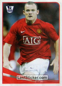 Top striker - Wayne Rooney (Sticker Stars)