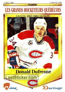 Donald Dufresne (Montreal Canadiens)