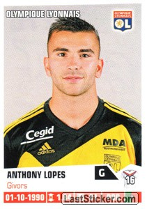 sticker 170 anthony lopes panini foot 2013 2014. Black Bedroom Furniture Sets. Home Design Ideas